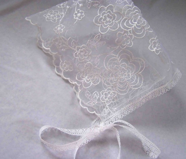 Baby Bonnet Sewing Pattern Made Me Shared With You Lace Ba Bonnet
