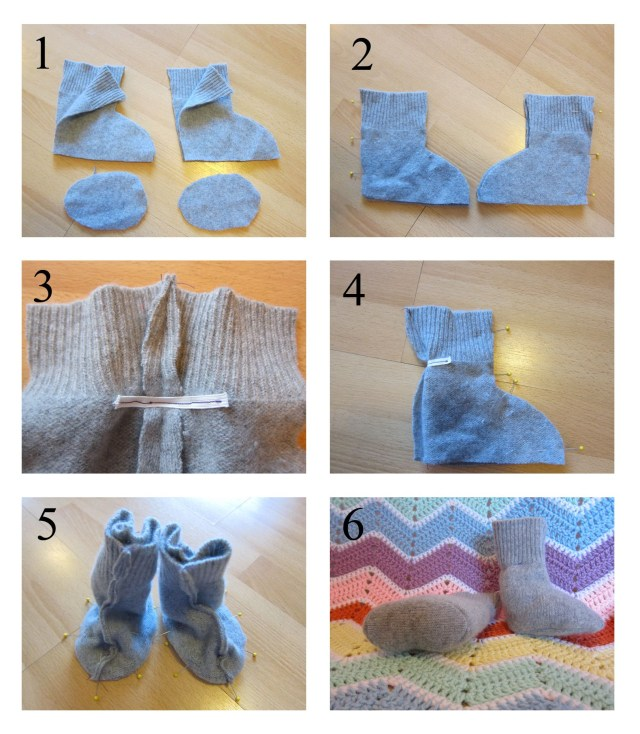 Baby Booties Sewing Pattern Recycled Cashmere Ba Booties Free Pattern Ba Crafts Ideas