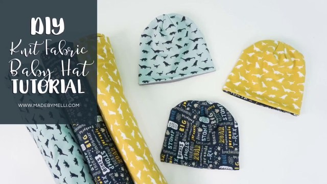 Baby Hat Sewing Pattern Diy Knit Fabric Ba Hat Tutorial With Or Without He Cricut Maker