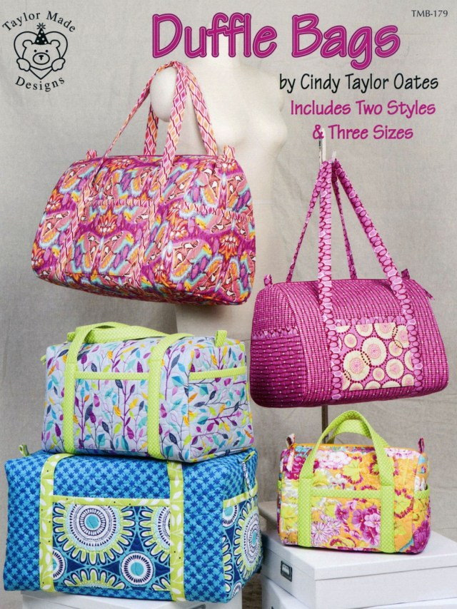 Bag Sewing Patterns Duffle Bags Sewing Pattern Book Cindy Taylor Oates