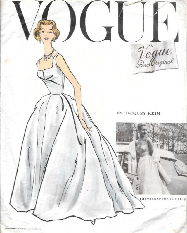 Ball Gown Sewing Patterns 50s Jacques Heim Vogue Paris Original Sewing Pattern For Ballgown
