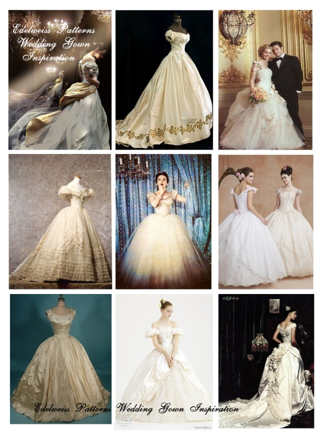 Ball Gown Sewing Patterns How I Sewed My Wedding Dress Edelweiss Patterns Blog