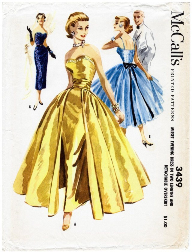Ball Gown Sewing Patterns M 3439 Multi Size Options Wedding Dress Vintage Sewing