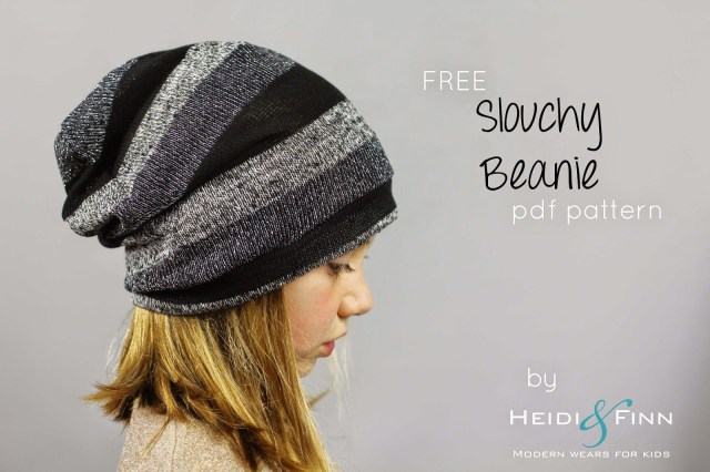 Beanie Hat Pattern Sewing Slouchy Beanie Hat Free Pattern For Kids Clothes Week