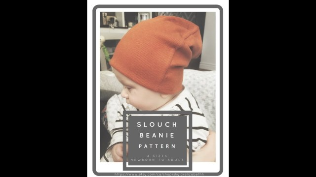Beanie Sewing Pattern Easy Slouchy Beanie Sew Along Tutorial Free Pattern Youtube