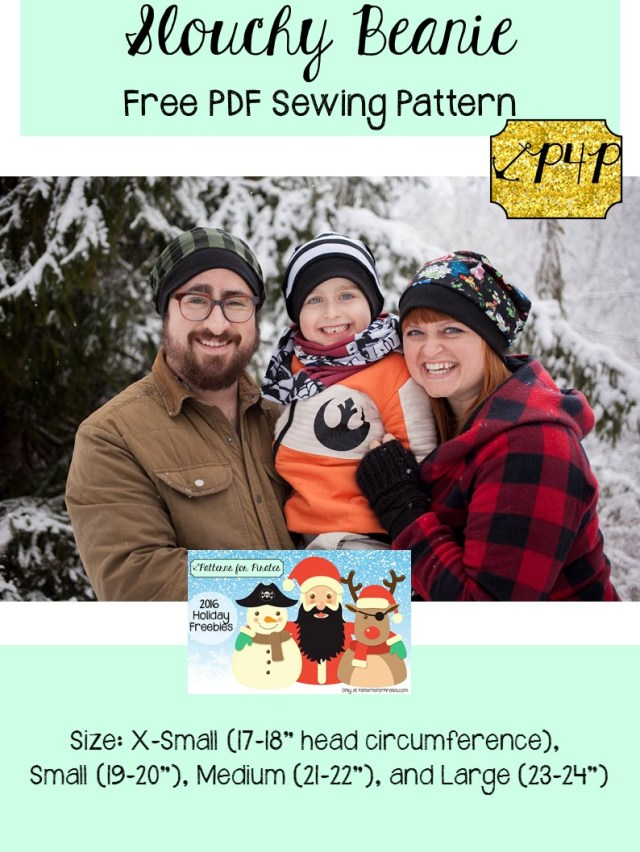 Beanie Sewing Pattern Free Slouchy Beanie Patterns For Pirates