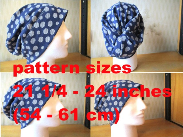 Beanie Sewing Pattern Slouchy Beanie Hat Pdf Sewing Pattern With Seam Allowances Print