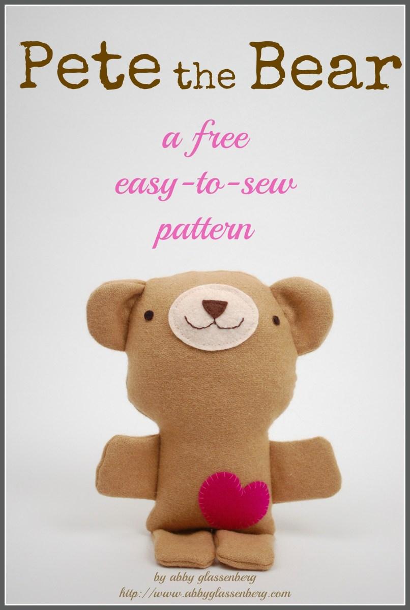 Bear Sewing Pattern Free Teddy Bear Sewing Pattern Pete The Bear Whileshenaps