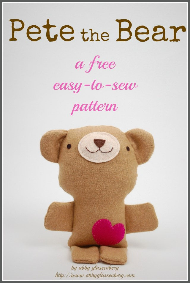 Bear Sewing Pattern Free Teddy Bear Sewing Pattern Pete The Bear Whileshenaps