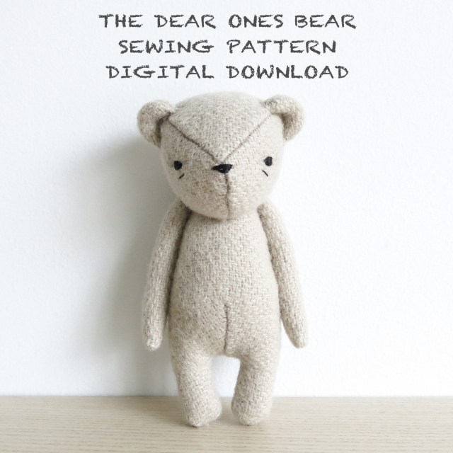 Bear Sewing Pattern Sewing Pattern The Dear Ones Bear Soft Toy Pdf Pattern Digital
