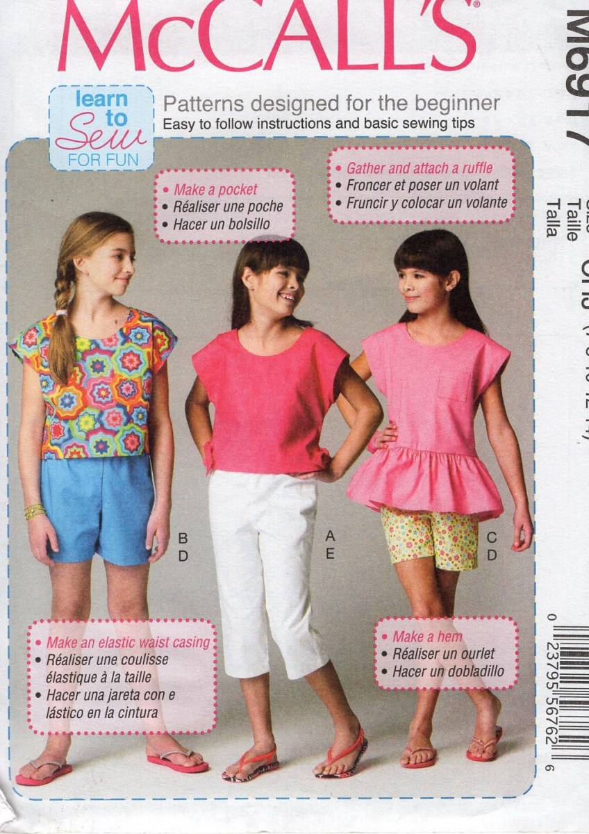 Beginner Sewing Patterns Mccalls 6917 Sewing Pattern Free Us Ship Girls Beginner Etsy