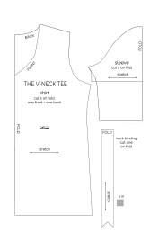 Blouse Sewing Pattern Free How To Make A V Neck T Shirt Sewing Pattern And Tutorial Its