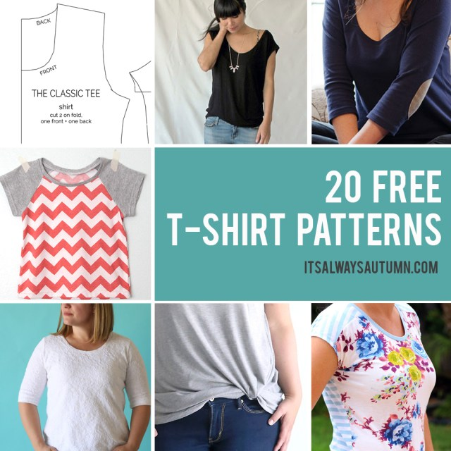Blouse Sewing Patterns 20 Free T Shirt Patterns You Can Print Sew At Home Its Always