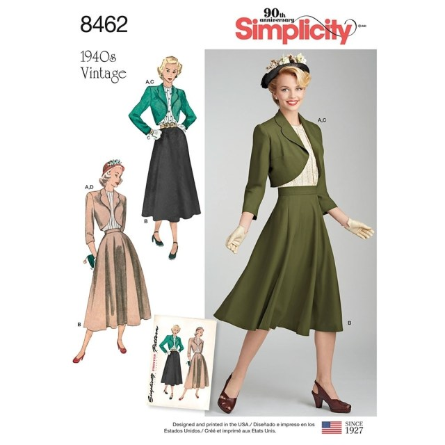 Blouse Sewing Patterns Misses Vintage Blouse Skirt And Lined Bolero Simplicity Sewing
