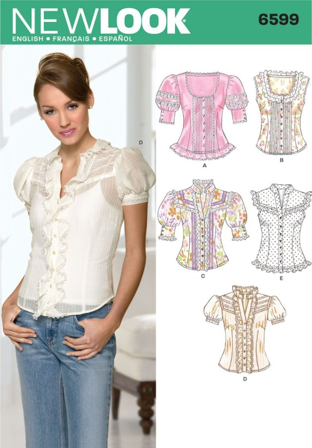 Blouse Sewing Patterns New Look 6599 Misses Blouses Sewing Pinterest Sewing Patterns