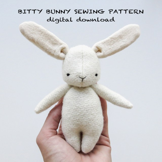 Bunny Sewing Pattern Sewing Pattern Bitty Bunny Soft Toy Pdf Pattern Digital Download