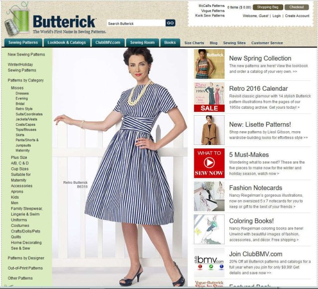 Butterick Sewing Patterns Resources For Locating Discontinued Sewing Patterns