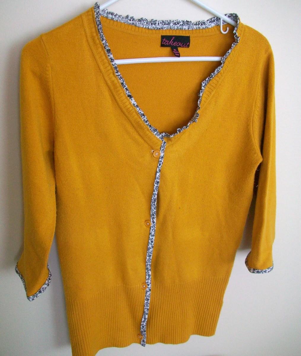Cardigan Pattern Sewing Diy Sweater To Cardigan Refashion Tutorial Heather Handmade