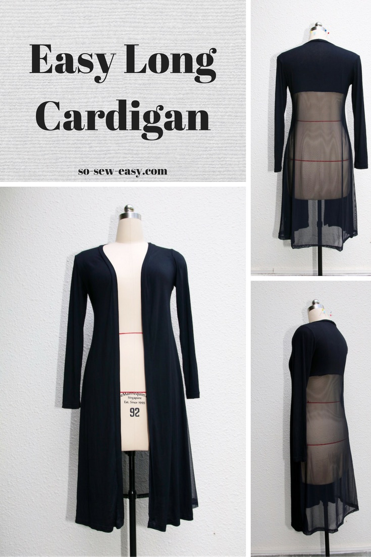 Cardigan Pattern Sewing Diy The Easy Long Cardigan A New Staple In Your Wardrobe So Sew Easy