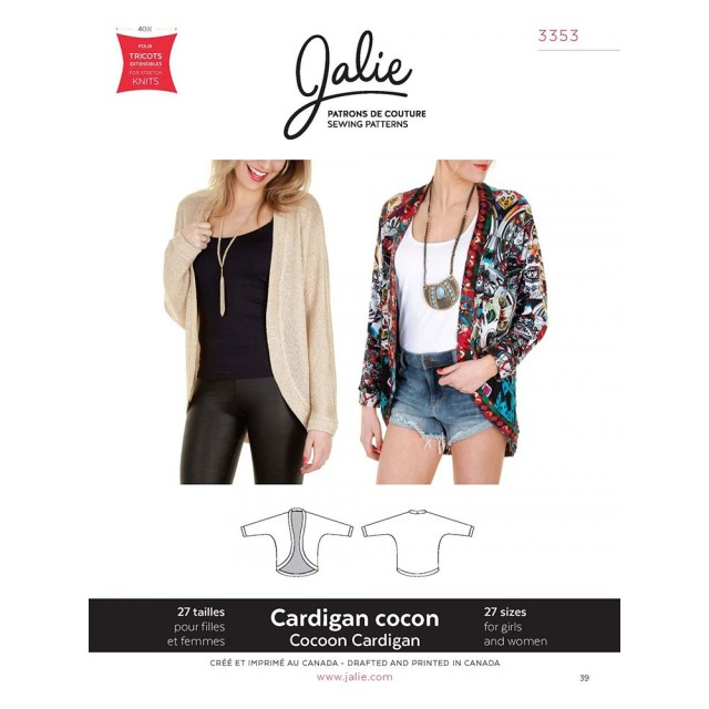 Cardigan Sewing Pattern Cocoon Cardigan Jalie Sewing Pattern 3353 Sew Essential