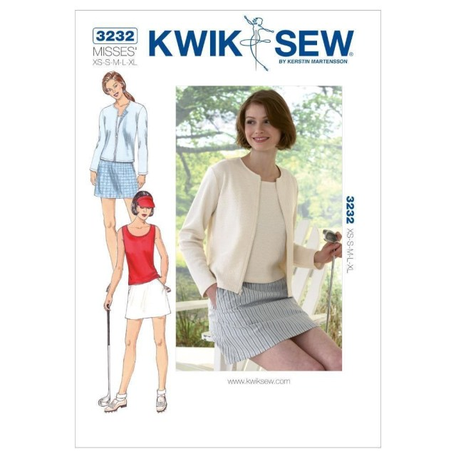 Cardigan Sewing Pattern Kwik Sew Sewing Pattern Misses Skort Top Cardigan Size Xs Xl K3232