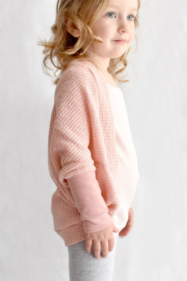 Cardigan Sewing Pattern The Cora Cocoon A Girls Cocoon Cardigan Sewing Pattern