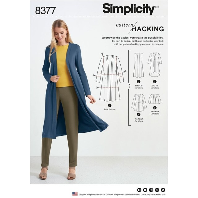 Cardigan Sewing Pattern Womens Knit Cardigan For Design Hacking Simplicity Sewing Pattern
