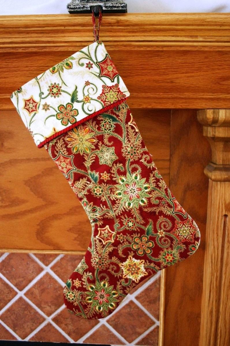 Christmas Stocking Sewing Pattern Christmas Stocking Pattern Pdf Free Big Bow Pattern Holiday Decor