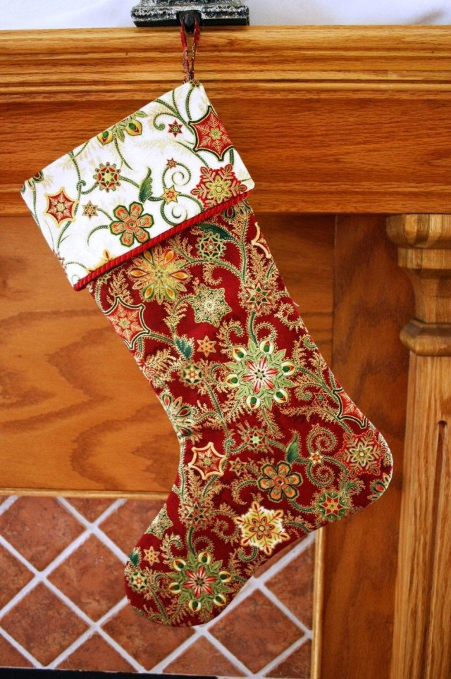 Christmas Stocking Sewing Pattern Christmas Stocking Pattern Pdf Free Big Bow Pattern Holiday Decor