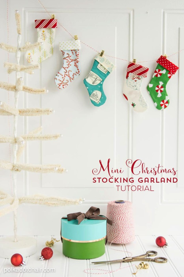 Christmas Stocking Sewing Pattern Diy Christmas Stocking Garland Sewing Pattern Christmas Sewing