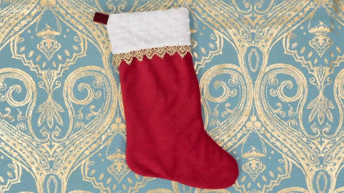Christmas Stocking Sewing Pattern How To Sew A Christmas Stocking Pattern And Assembly Youtube