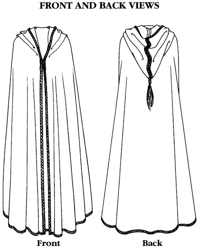 Cloak Sewing Pattern Folkwear Moroccan Burnoose Sewing Pattern 132 Cape Or Cloak In 2