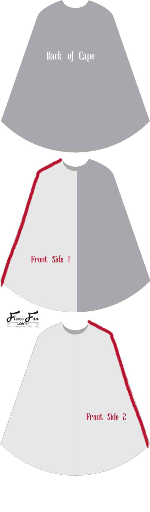 Cloak Sewing Pattern Long Hooded Cloak Pattern Free Fleece Fun