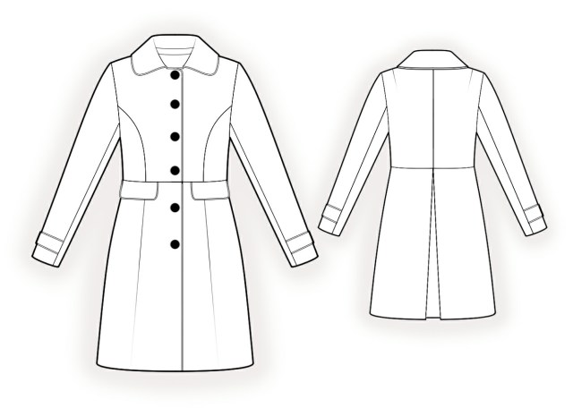 Coat Sewing Patterns Coat Sewing Pattern 4333 Made To Measure Sewing Pattern From
