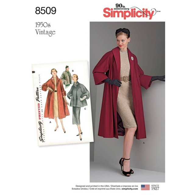 Coat Sewing Patterns Misses Vintage Coat Or Jacket Simplicity Sewing Pattern 8509 Sew
