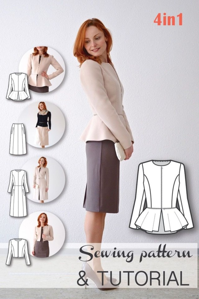 Coat Sewing Patterns Sewing Patterns Coat Patterns Jacket Patterns Bolero Pattern