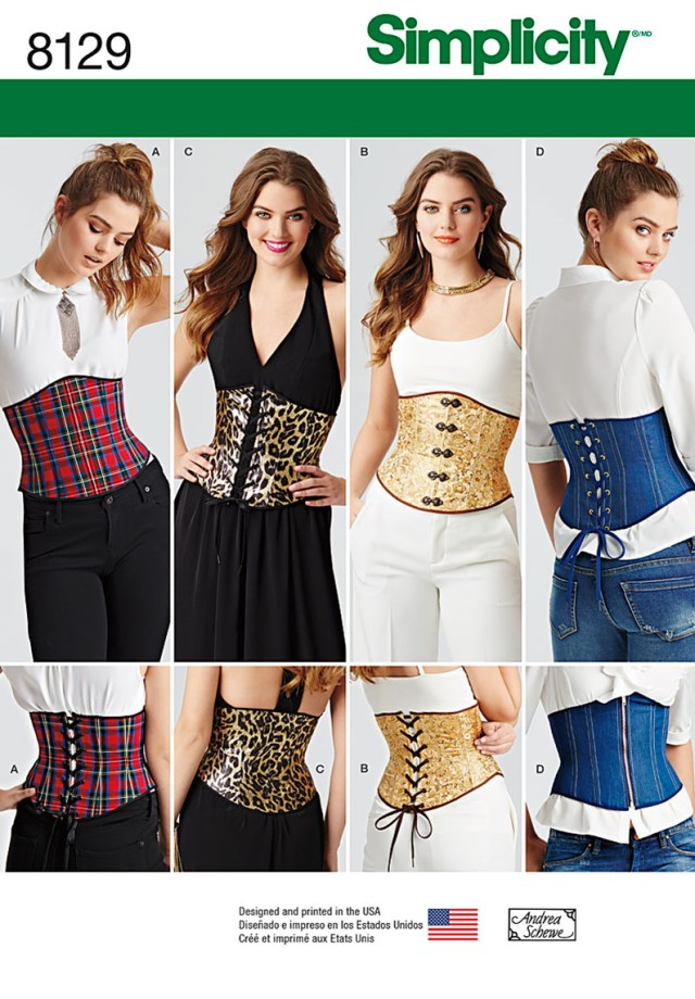 Corset Sewing Pattern Simplicity Simplicity Pattern 8129 Misses Easy Waist Cincher Corsets