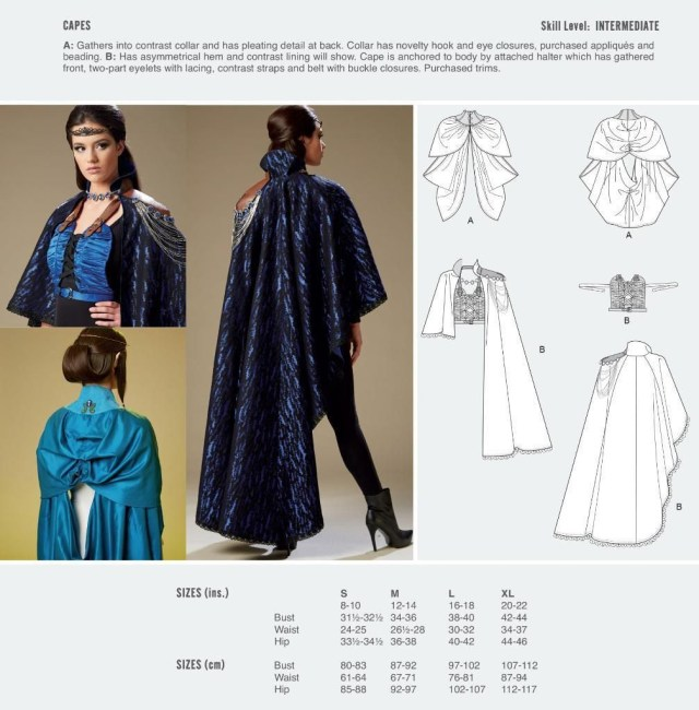 Cosplay Sewing Patterns Cosplay Mccall S Sewing Pattern Capes Size S Xl M2092
