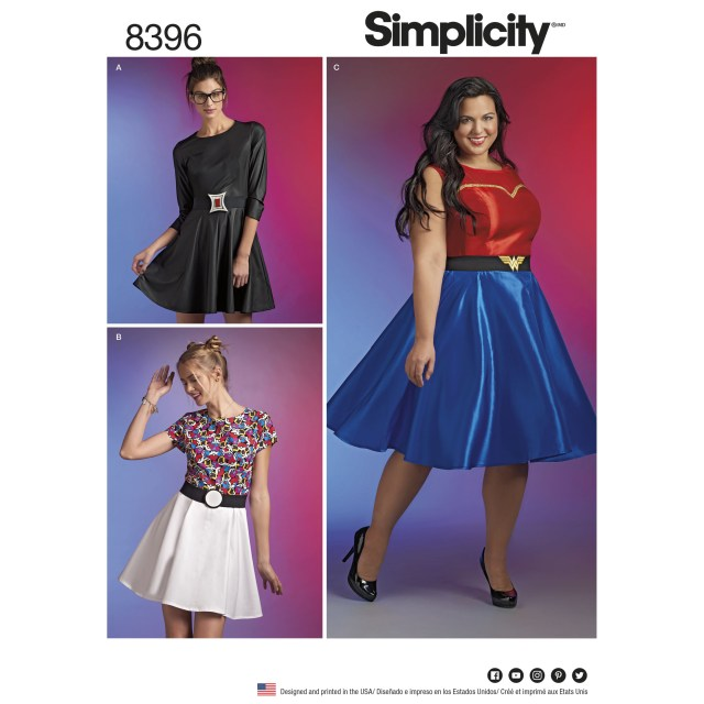 Cosplay Sewing Patterns Simplicity 8396 Plus Size Cosplay Dress