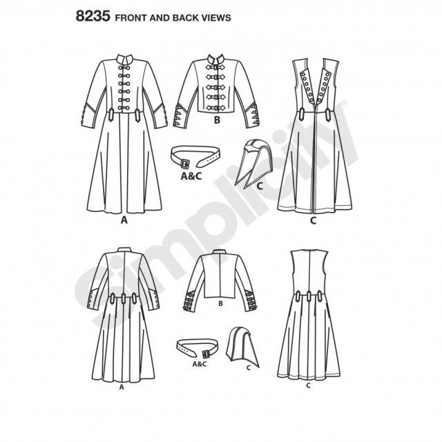 Cosplay Sewing Patterns Simplicity Sewing Pattern 8235 Aa Mens Cosplay Costume Pattern