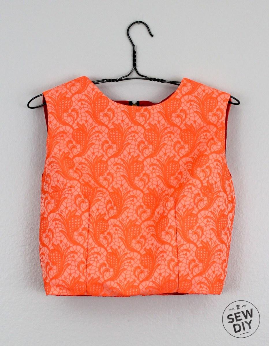 Crop Top Sewing Pattern Diy Brocade Crop Top Blouse Pinterest Sewing Sewing Patterns