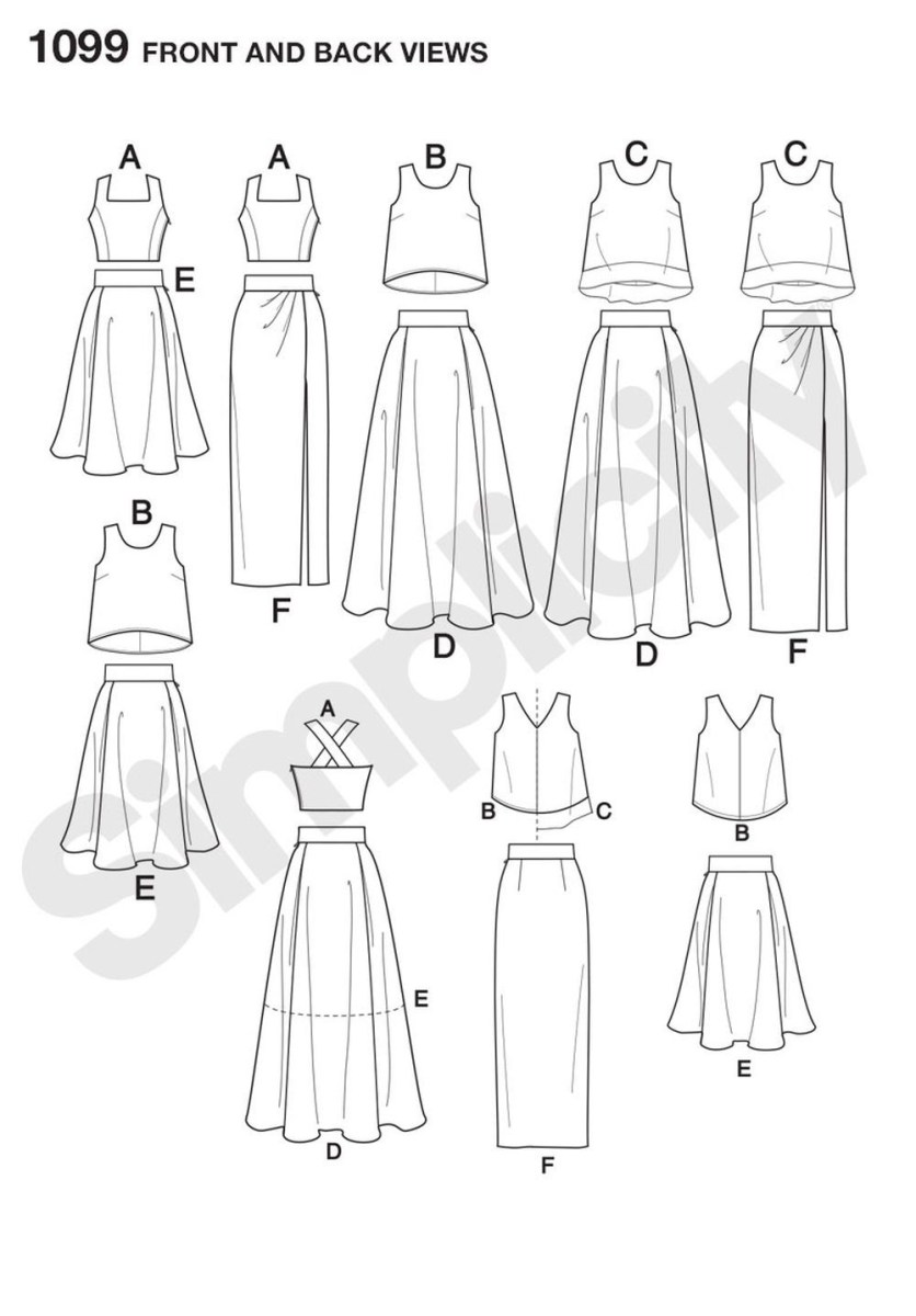 Crop Top Sewing Pattern Inspired Project Runway Two Piece Dress Pattern Is Great For