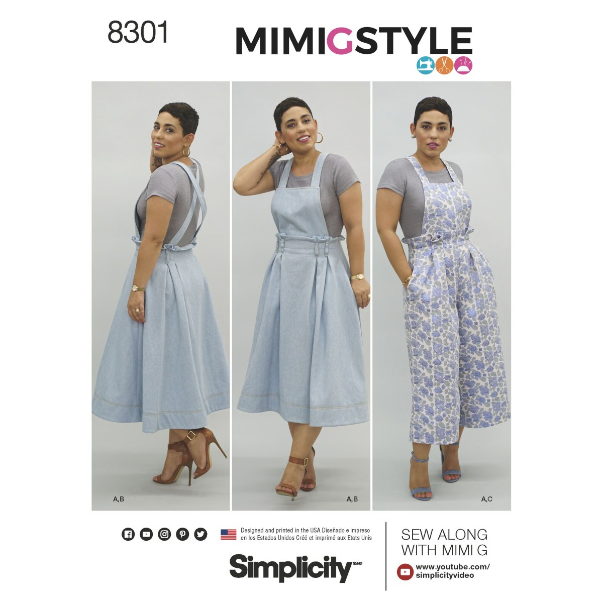 Crop Top Sewing Pattern Simplicity 8301 Mimi G Style Misses Overalls And Knit Crop Top