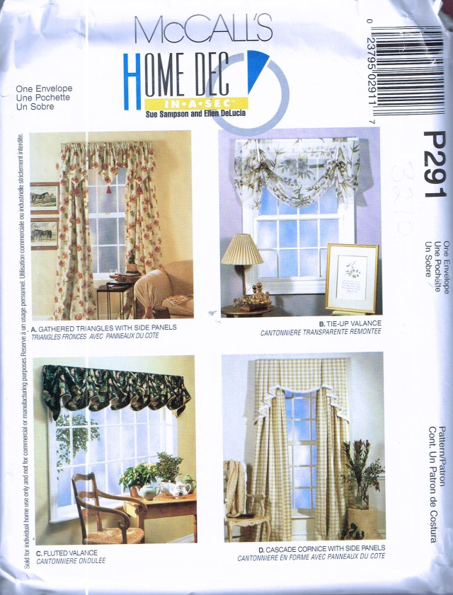 Curtain Sewing Patterns Easy Curtain Sewing Pattern Swag Curtain Sewing Pattern Etsy