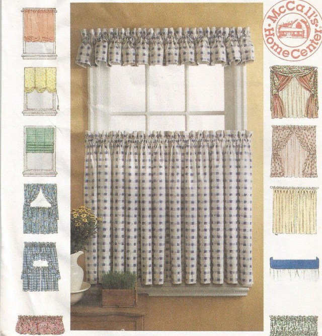 Curtain Sewing Patterns Mccalls 8492 Curtain Pattern Drapes Window Shades Crafts Seasonal