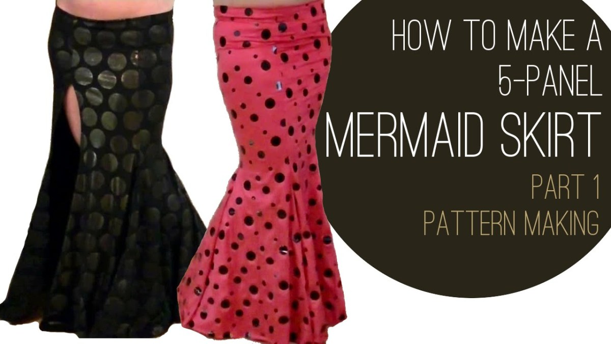 Dance Skirt Sewing Pattern How To Make A Mermaid Skirt Part 1 Pattern Making Youtube