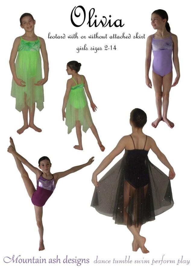 Dance Skirt Sewing Pattern Olivia Pdf Sewing Pattern Gymnastics Ballet Dance Leotard Dress