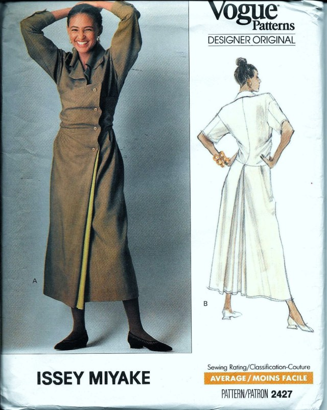 Designer Sewing Patterns Vintage 2427 Vogue Issey Miyake Designer Original Dress Sewing