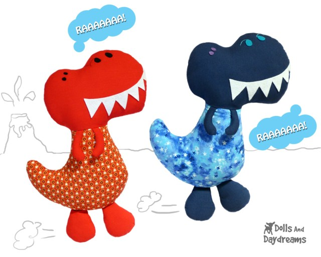 Dinosaur Sewing Pattern Dinosaur Sewing Pattern Blogged Dollsanddaydreamsblogspo Flickr