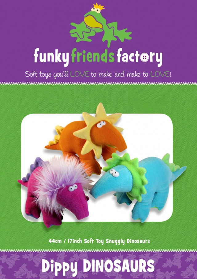 Dinosaur Sewing Pattern Dippy Dinosaurs Sewing Pattern Funky Friends Factory